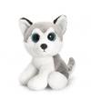 Pluche husky met sprankelende ogen 25 cm