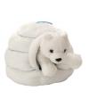 Pluche ijsbeer in iglo knuffel