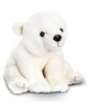 Pluche ijsbeer knuffel wit zittend 45cm