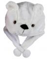 Pluche ijsbeer muts voor kinderen