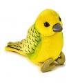 Pluche kanarie vogel knuffel 14 cm