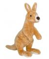 Pluche kangoeroe knuffel 34 cm
