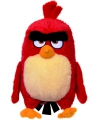 Pluche knuffel angry birds rood 28 cm