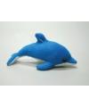 Pluche knuffel dolfijn blauw 15 cm