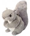 Pluche knuffel eekhoorn grijs 20 cm