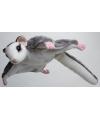 Pluche knuffel grijze vliegende eekhoorn 18 cm