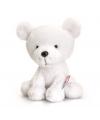 Pluche knuffel ijsbeer 14 cm