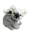 Pluche knuffel koala met jong 26 cm