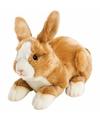 Pluche knuffel konijn haas lichtbruin 35 cm