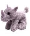 Pluche knuffel neushoorn grijs 18 cm