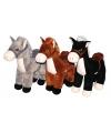 Pluche knuffel paard grijs 33 cm