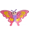 Pluche knuffel roze vlinder 38 cm