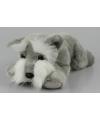 Pluche knuffel terrier grijs 25 cm