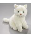 Pluche knuffel witte kat 23 cm
