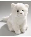 Pluche knuffel witte tabby kat 27 cm