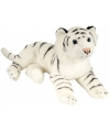 Pluche knuffel witte tijger 30 cm