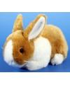 Pluche konijn bruin wit 20 cm
