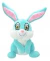 Pluche konijn haas knuffel blauw 30 cm