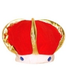 Pluche koningskroon rood