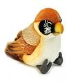 Pluche kruisbek vogel knuffel 14 cm
