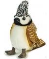 Pluche kuifmees vogel knuffel 14 cm