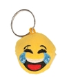 Pluche lachende smiley sleutelhanger