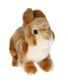 Pluche lichtbruin konijn knuffel 22 cm