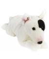 Pluche liggende bull terrier hond knuffel 36 cm