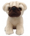 Pluche mopshond knuffel 13 cm