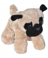 Pluche mopshond knuffel 18 cm