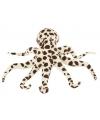 Pluche octopus knuffel bruin wit gevlekt 32 cm