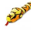 Pluche oranje slang 200 cm