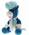 Pluche paard elvis blauw 40 cm