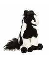 Pluche paard knuffel zwart wit 22 cm