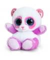 Pluche panda knuffel lila roze 15 cm