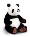 Pluche panda knuffel zwart wit zittend 30cm