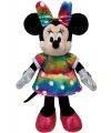 Pluche regenboog minnie mouse 20 cm