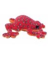 Pluche rode kikker knuffel 15 cm