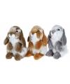 Pluche roodbruin hangoor konijn knuffel 18 cm