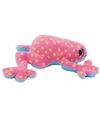 Pluche roze kikker knuffel 15 cm