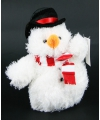 Pluche sneeuwpop 14 cm