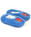 Pluche spiderman pantoffels blauw