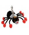 Pluche tarantula sleutelhanger 10 cm
