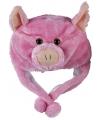 Pluche varkens muts voor kinderen