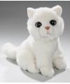 Pluche witte katten knuffel 20 cm