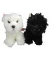 Pluche witte terrier knuffel 25 cm