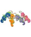 Pluche zeepaard sleutelhanger oranje 13 cm