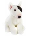 Pluche zittende bull terrier hond knuffel 23 cm
