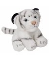 Pluche zittende witte tijger knuffeldier 15cm