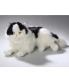 Pluche zwart witte katten knuffel 35 cm